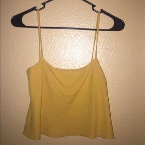 Brandy - Yellow Crop/ Tank top